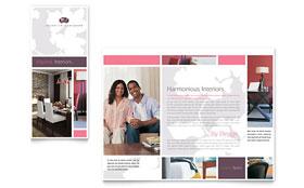 Interior Designer - Microsoft Word Tri Fold Brochure Template