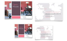 Interior Designer - Note Card Template Design Sample