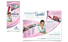 House Cleaning & Maid Services - Adobe InDesign Brochure Template