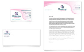 House Cleaning & Maid Services - Business Card & Letterhead Template Design Sample