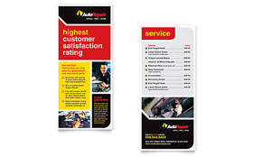 Auto Repair - Rack Card Template Design Sample