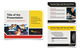 Auto Repair - PowerPoint Presentation Template Design Sample