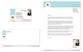 Home Real Estate - Business Card & Letterhead Template Design Sample