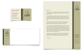 Lawyer & Law Firm - Business Card & Letterhead