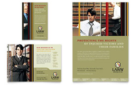 Lawyer & Law Firm - Flyer & Ad Template