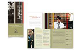 Lawyer & Law Firm - Microsoft Word Tri Fold Brochure Template