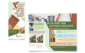 Painter & Painting Contractor - Brochure Template Design Sample