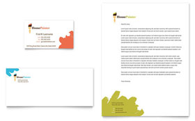 Painter & Painting Contractor - Business Card & Letterhead Template