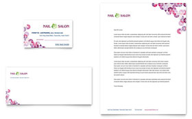 Nail Salon - Business Card & Letterhead Template