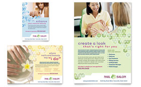 Nail Salon - Leaflet Sample Template
