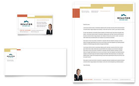 Realtor & Real Estate Agency - Business Card & Letterhead Template