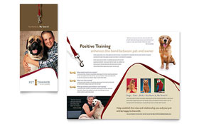 Pet Training & Dog Walking - QuarkXPress Brochure Template