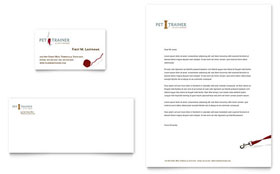Pet Training & Dog Walking - Business Card & Letterhead Template