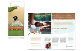 Health & Beauty Spa - Tri Fold Brochure Sample Template