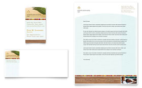 Health & Beauty Spa - Business Card & Letterhead Template Design Sample