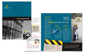 Industrial & Commercial Construction - Brochure Template Design Sample