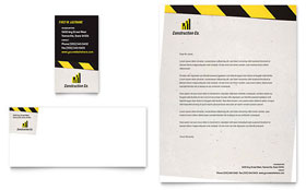 Industrial & Commercial Construction - Business Card & Letterhead
