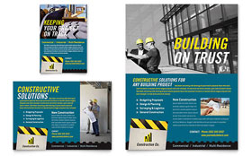 Industrial & Commercial Construction - Flyer & Ad Template Design Sample