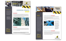 Industrial & Commercial Construction - Datasheet Template Design Sample