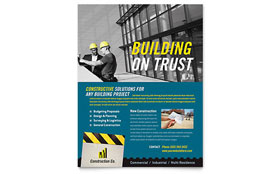 Industrial & Commercial Construction - Flyer Template