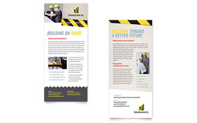 Industrial & Commercial Construction - Rack Card Sample Template