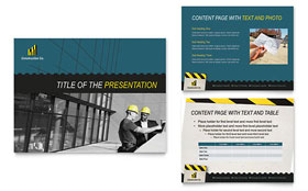 Industrial & Commercial Construction - PowerPoint Presentation Template Design Sample