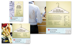 Laundry & Dry Cleaners - Flyer & Ad Template Design Sample