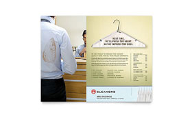 Laundry & Dry Cleaners - Leaflet Sample Template