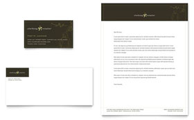Women's Clothing Store - Business Card & Letterhead Template Design Sample