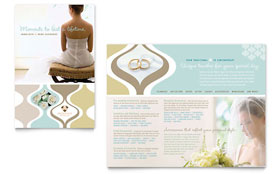 Wedding Store & Supplies - Brochure Template Design Sample