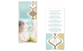 Wedding Store & Supplies - Rack Card Template Design Sample