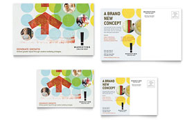 Marketing Consultant - Postcard Sample Template
