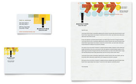 Marketing Consultant - Business Card & Letterhead Template Design Sample