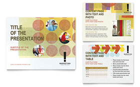 Marketing Consultant - Microsoft PowerPoint Template Design Sample