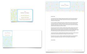 Infant Care & Babysitting - Business Card & Letterhead Template Design Sample