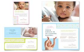 Infant Care & Babysitting - Flyer Sample Template