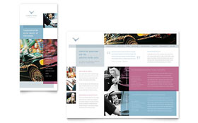 Limousine Service - Apple iWork Pages Brochure Template