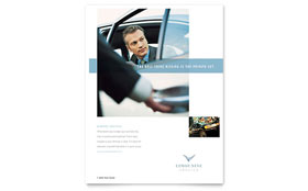 Limousine Service - Flyer Sample Template