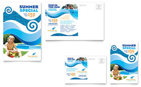 Swimming Pool Cleaning Service - Postcard Sample Template