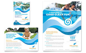 Swimming Pool Cleaning Service - Print Ad Template