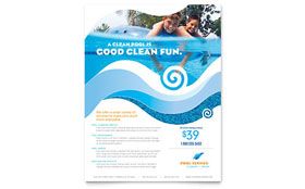 Swimming Pool Cleaning Service - Flyer Template
