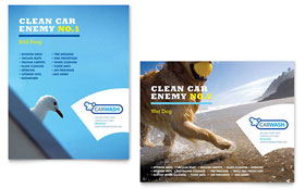 Car Cleaning - Poster Template Design Sample