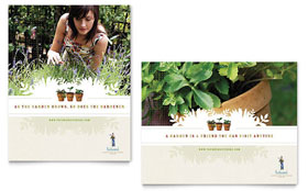 Landscape & Garden Store - Poster Template Design Sample
