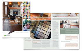 Carpet & Hardwood Flooring - Print Design Brochure Template