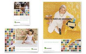 Carpet & Hardwood Flooring - Flyer & Ad Template