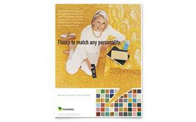 Carpet & Hardwood Flooring - Leaflet Template