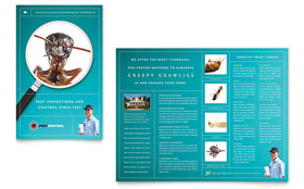 Pest Control Services - Adobe InDesign Brochure Template