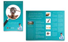Pest Control Services - Print Design Brochure Template