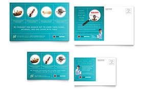 Pest Control Services - Postcard Template