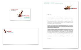 Pest Control Services - Business Card & Letterhead Template